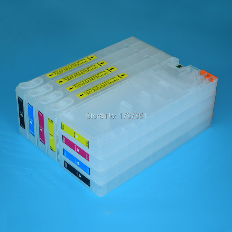 For Epson Stylus Pro 7400 printer ink cartridge and chip resetter 2*4 color 350ml for Epson T5678/T5672-T5674 смеситель для биде cezares retro retro c bs1 01