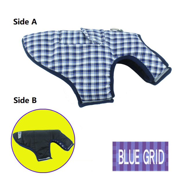 Pet Dog Clothes Jacket Coat Double-Side Wear Clothing Winter Warm Cotton for Yorkshire Small Large Big Dogs Puppy Cloth Costume 3