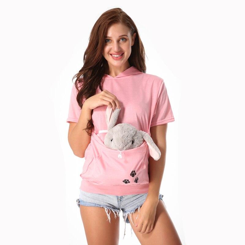 US $13.59 15% OFF Fabrik verkäufer Katze Liebhaber Hoodie Kangaroo Hund Pet Paw Dropshipping Pullover Cuddle Beutel Sweatshirt Tasche Tier Ohr Mit