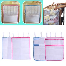 Baby Bed Hanging Storage Bag Crib Organizer Toy Diaper Pocket For Cradle Bedding(China)