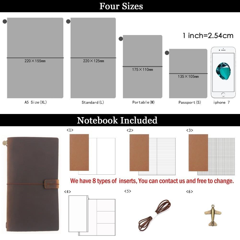 Hot Sale 100% äkta läder anteckningsbok handgjorda vintage kohid - Block och anteckningsböcker - Foto 2