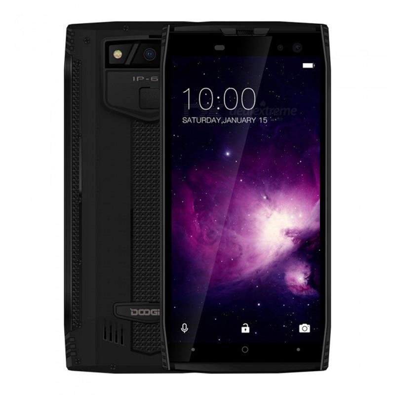 DOOGEE S50 IP68 étanche Smartphone 5180 mAh Charge rapide 5.7 ''affichage MTK6763T 2.5 GHz Octa Core 6 GB 64 GB 16.0MP Quad caméras