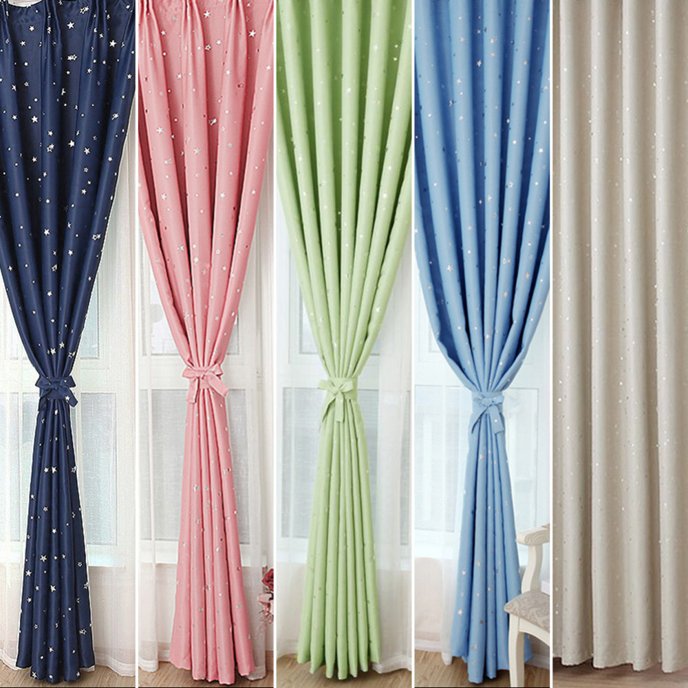 modernas cortinas de la estrella para nios nio beb saln polister suave habitacin