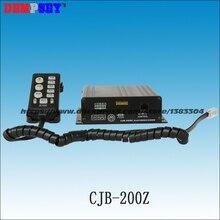 200Z Высокое качество 200 Вт полицейская сирена с микрофоном, DC12V, 7 тонов, 2 переключателя управления светом, 8 Ом, без динамика
