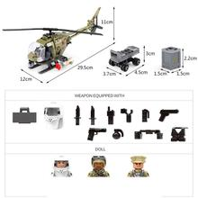 hot military helicopter WW2 vehicles army war mini weapons guns figures MOC Building Blocks model bricks toys for children gift