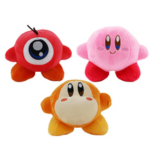 3pcs/lot 13-18cm cute Kirby plush cartoon doll toy kawaii pink red yellow Kirby Star stuffed soft cotton doll for children gift
