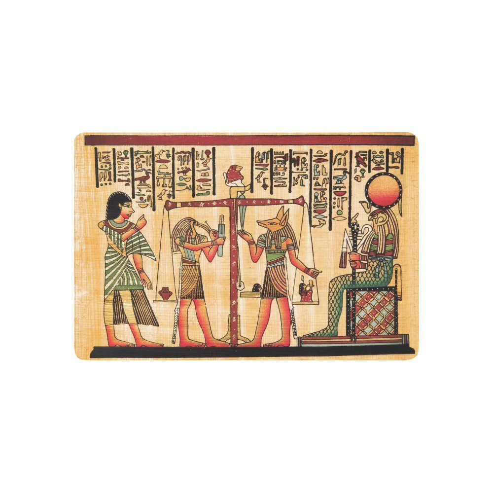 Antique Egyptian Papyrus Hieroglyph Anti-slip Door Mat Home Decor, Ancient Egypt Indoor  ...