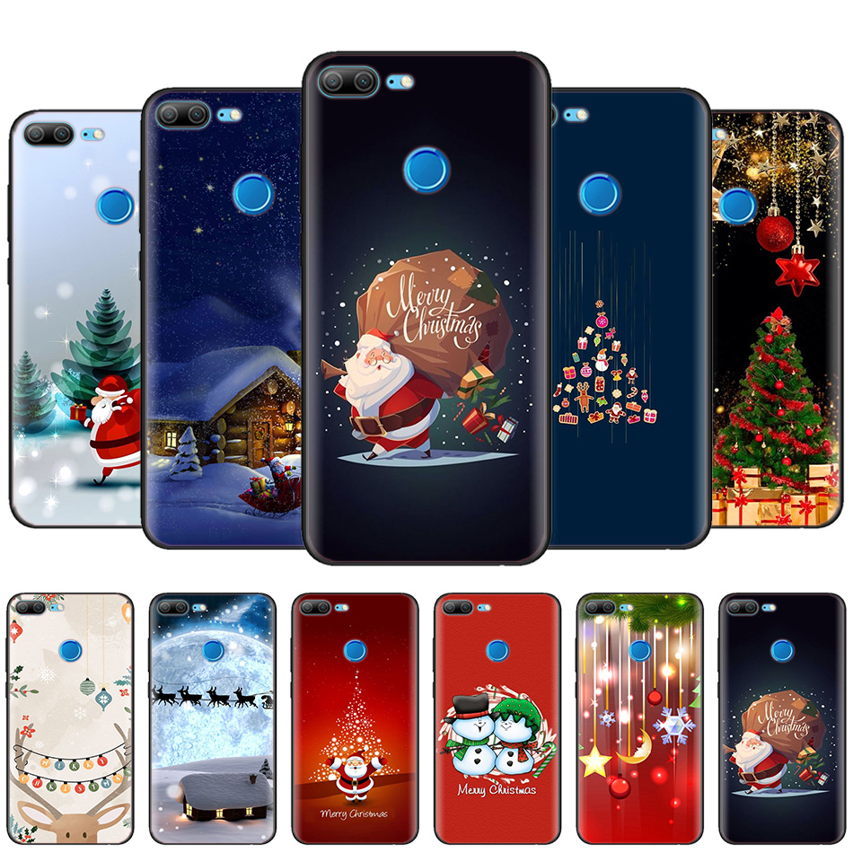 Black Silicone Case Bag Cover for Huawei Honor 10i Y7 Y6 Y5 Y9 8X 8C 8S 9 10 Lite Pro 2018 2019 Enjoy 9E 9S Merry Christmas