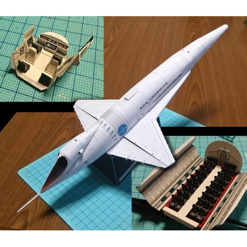 Papercraft 2001: A Space Odyssey - Orion III Spacecraft 3D Paper Model DIY Handmade Toy