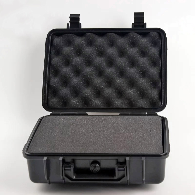 270x230x100mm Instrument Box ABS Plastic Toolbox Sealed Aviation Safety Box Waterproof Toolbox Protective Box Storage Box