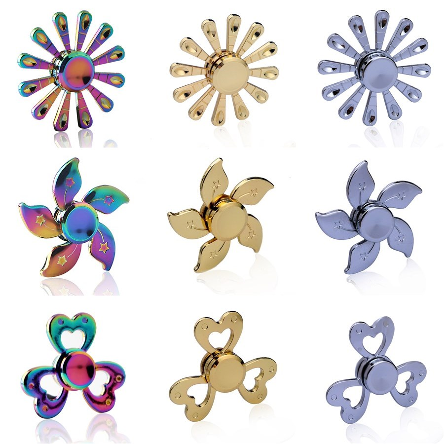 The Stars Disc Colorful Fidget Spinner EDC Hand Spinners Autism ADHD Kids Christmas Gifts Metal Finger Toys Spinners