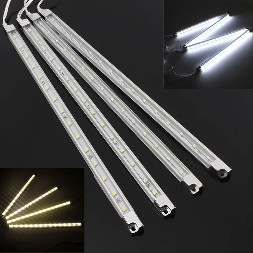 high quality 4pcs kitchen under cabinet counter led hard rigid strip light bar kit white warm. Black Bedroom Furniture Sets. Home Design Ideas