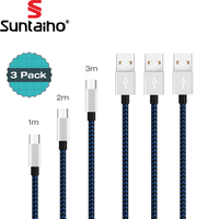 Suntaiho USB Type C Cable 3 PACK 1M 2M 3M Fast Charging Sync Data Type C