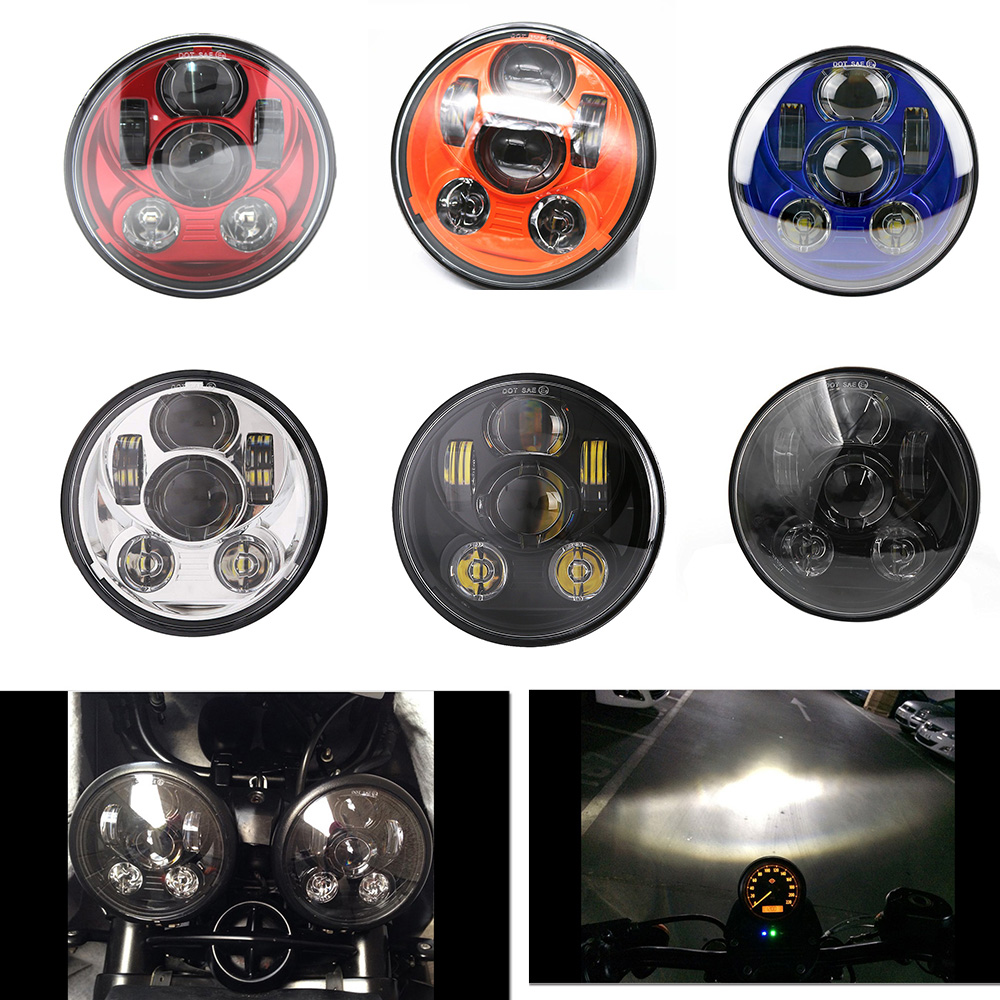 5 3/4 Round Headlight for Harley Dyna Sportster 1200 883 Parts Turn Signal Light motor 5.75 Inch Projector LED Moto headlamp