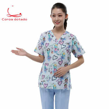 Unisex printed love surgical suit hand-washing suit animal hospital uniform - DISCOUNT ITEM  0% OFF All Category