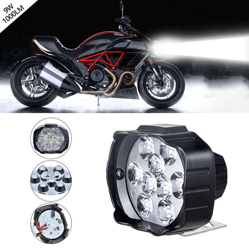 Super Bright Motorcycle Headlight Fog Spotlight LED Headlight DC 12V 24V External Work Light For Motorcycles, Electric Bicycles