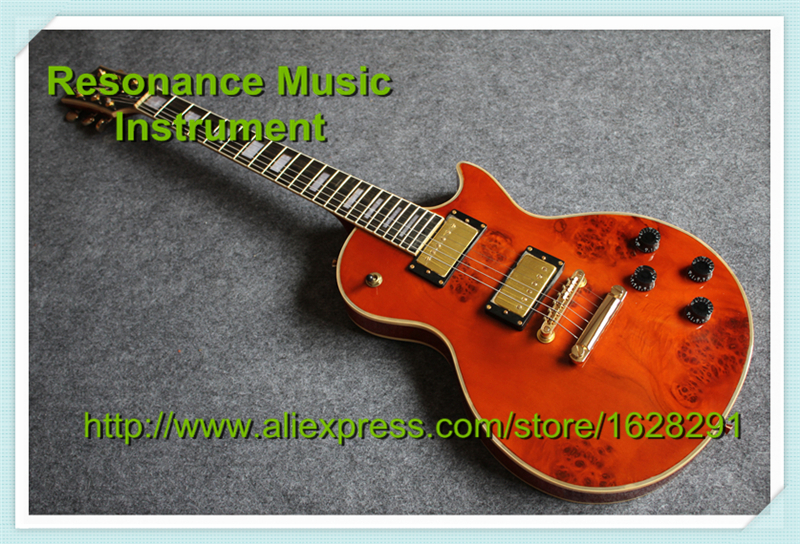 100% Real Pictures 22 Frets One Piece Neck LP Custom Guitars Electric Rotten Grain Finish Guitar Body Available custom shop reddish brown matte satin finish 22 frets lp custom electric guitar 2014 new model china oem guitar lefty available
