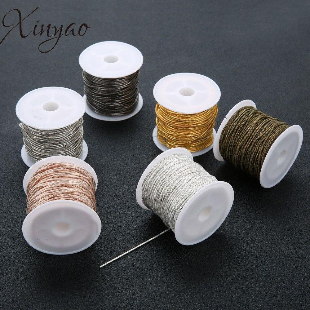 Xinyao 10 Yard/rolle 1,5mm Mode Kupfer Schlange Kette Groß Halskette Kette Für Diy Männer Kette Halskette Schmuck Zubehör Halsketten & Anhänger