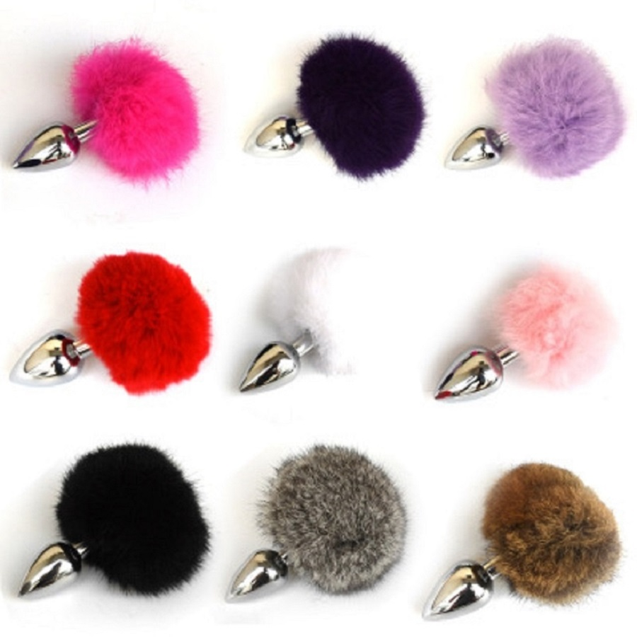Colorful Metal small size <font><b>cat</b></font> tail anal plug fox butt plug <font><b>sex</b></font> <font><b>toys</b></font> for men and women image