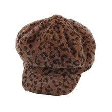 Одежда обувь и аксессуары шляпа 1 шт. зимние украшения с леопардовым принтом женская шапка берет теплая Модная шапка oct30