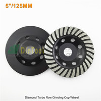 2pcs 125mmDiamond Turbo Row Grinding Cup Wheel For Concrete Masonry And Some Other Construction Mater 5inch