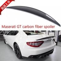Carbon Fiber car rear trunk boot lip spoiler wing for Maserati GranTurismo GT 2 Door flat trunk 06 11 Non Convertible