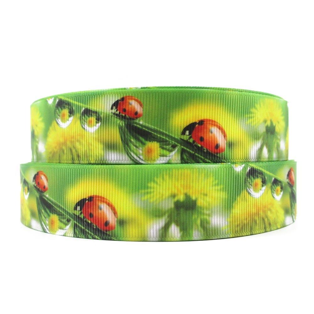 Apparel Sewing & Fabric Ribbons Brilliant 1 25mm David Accessories Ladybug High Quality Printed Polyester Ribbon 5yds,diy Handmade Materials,wedding Gift,5y55183