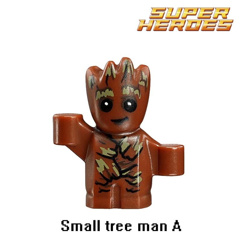 Building Blocks Small Tree Man Groot Guardians of the Galaxy Marvel Figures Starwars Super Hero Bricks Kids DIY Toys Hobbies new funko pop guardians of the galaxy tree people groot
