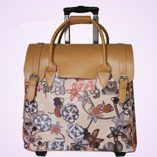 ZIRANYU Ms PU Luggage Women s Hand Trolley case Genuine UNEQUAL PU suitcase bags Leopard Snake