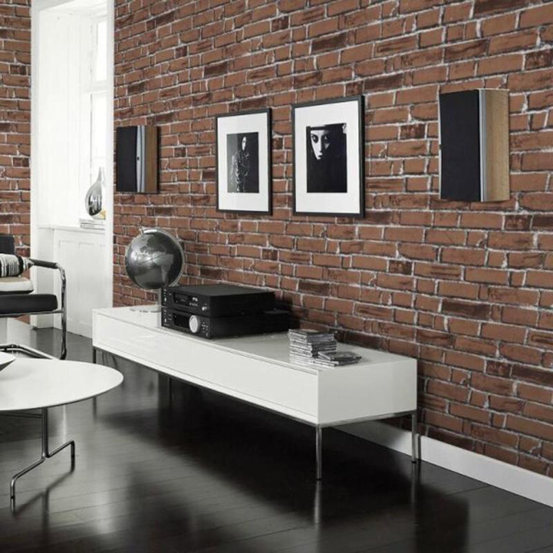 Kids Rooms Decorating Ideas Red Brick Wallpaper: DIY Self Adhesive 3D Wall Stickers Brick Pattern Wallpaper