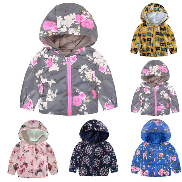 77029a9bac2b Baby Coats and Jackets Hooded Cartoon Print Coat Tops Warm Outerwear New  Winter 2018 for Baby Girls Clothes 18Aug16