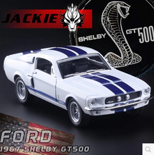 Ford 1967 Shelby Cobra GT500 KT5372 Kids toy car model 1 38 alloy Pull Back classic