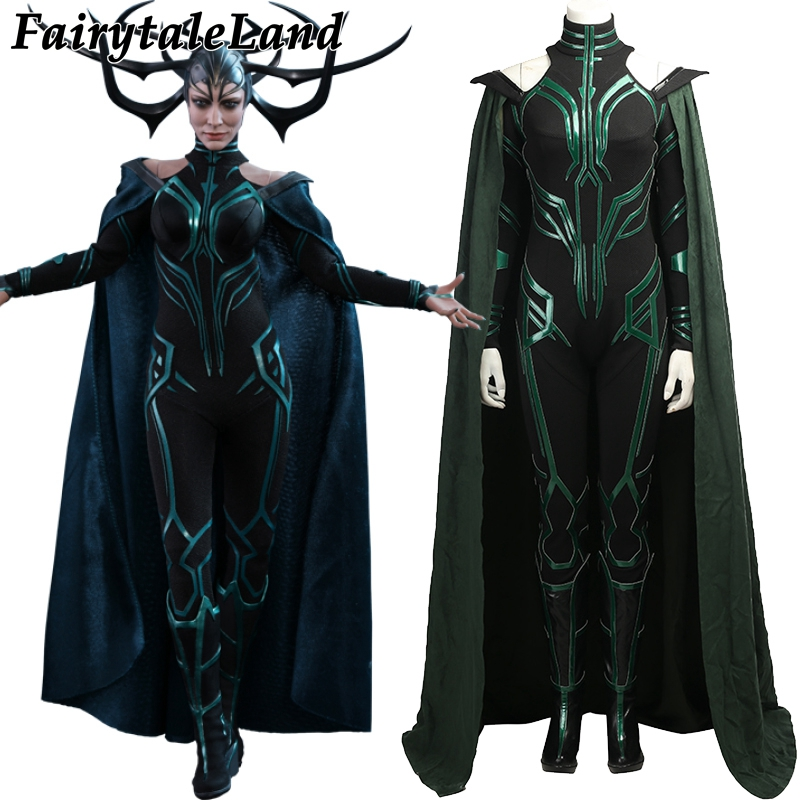 Hela Costume Cosplay Thor Ragnarok Halloween Costumes for Adult Women Suit Thor Ragnarok Hela Cosplay Jumpsuit