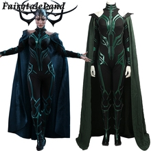Hela Costume Cosplay Thor Ragnarok Halloween Costumes for Adult Women Suit Thor Ragnarok Hela Cosplay Jumpsuit Fancy Costume