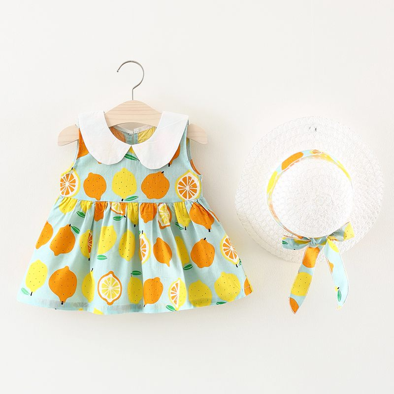 Two-Pieces Summer Baby Girl Nieuwe jurk Kinderkleding Effen kleur - Kinderkleding - Foto 5