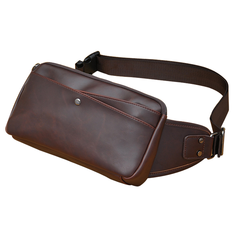 men bag PU leather font b waist b font font b packs b font fashion vintage