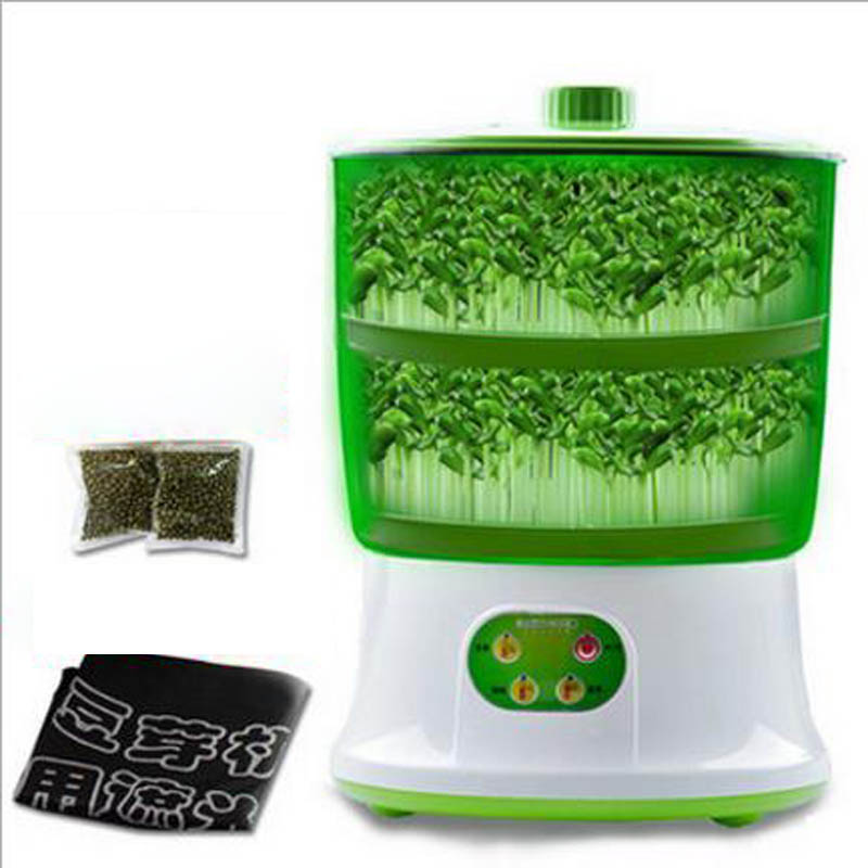 2 or 3 Layers Automatic Bean Sprout Machine Healthy Homemade Vegetable Sprout Bud Machine Intelligent Microcomputer Control2 or 3 Layers Automatic Bean Sprout Machine Healthy Homemade Vegetable Sprout Bud Machine Intelligent Microcomputer Control