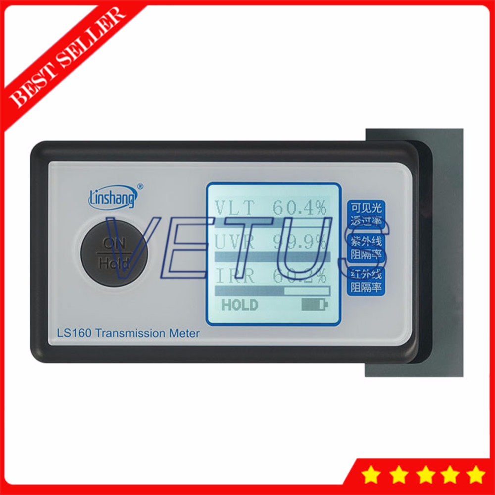 LS160 3 in 1 Solar Film Transmission Meter with UV IR rejection measurement Light Transmittance instrument Window Tinting Tester ls160 solar film tester portable solar film transmission meter measure uv visible and infrared transmission values