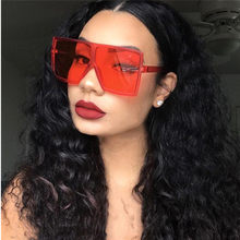 Vintage Big Square Sunglasses Women Goggles Mens Oversize Sun Glasses Female Fashion Famous Brand Black Eyewear Gafas de sol(China)