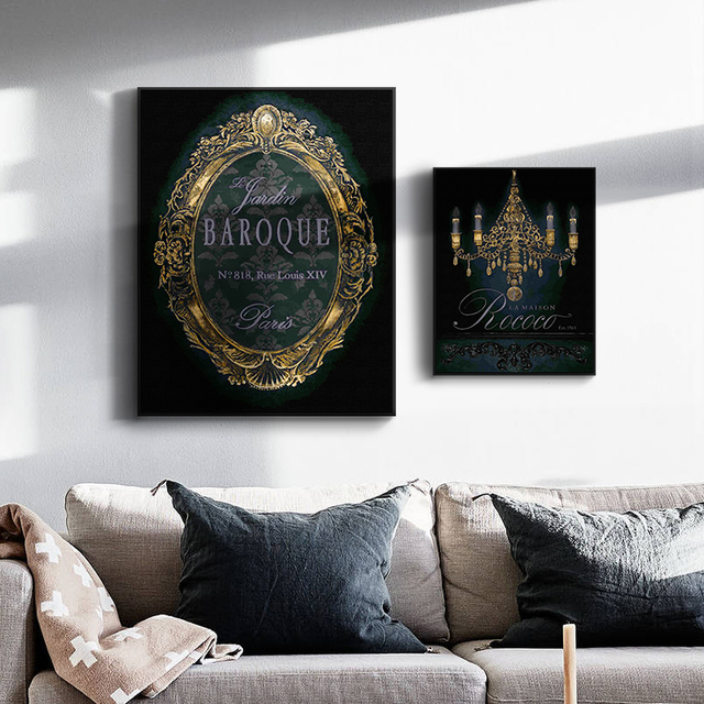 Modern A4 Art Posters Canvas Painting 3D Mirror Frameless Prints Home Wall  Decoration Poster For Living
