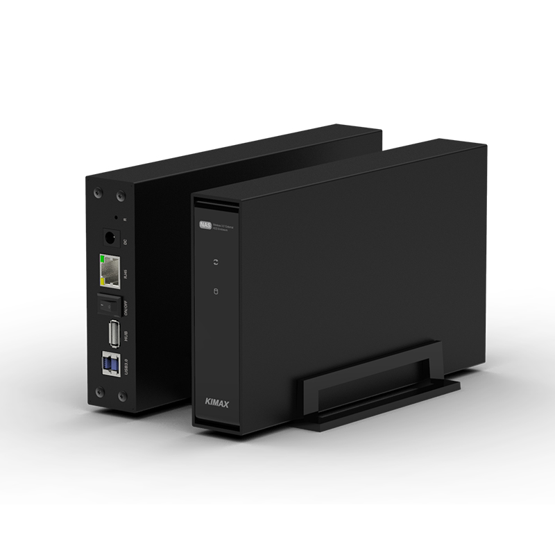 Disque dur externe Wifi boîtier HDD antenne Nas stockage sans fil HDD Sata USB 3.0 wifi hd Interface boîtier en aluminium 3.5 Caddy-in HD