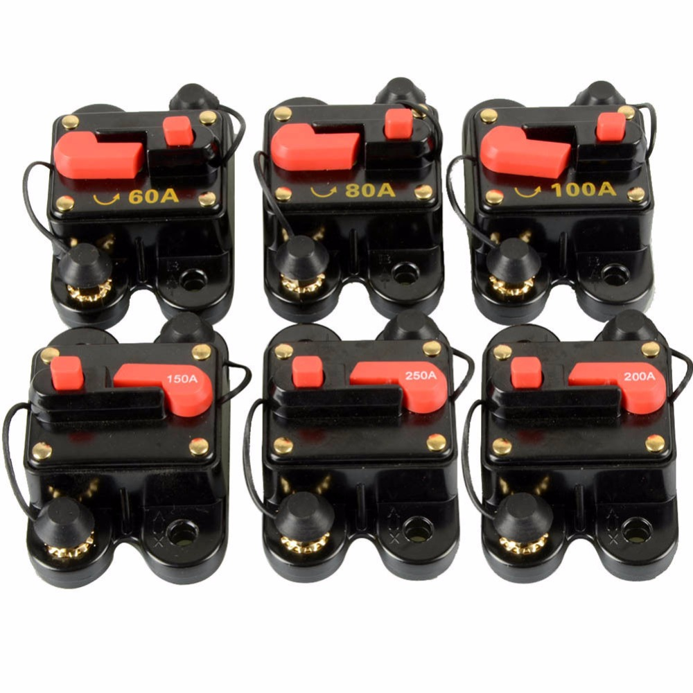 12V-24V DC Home Solar System Waterproof Circuit Breaker Reset Fuse Invert OZG
