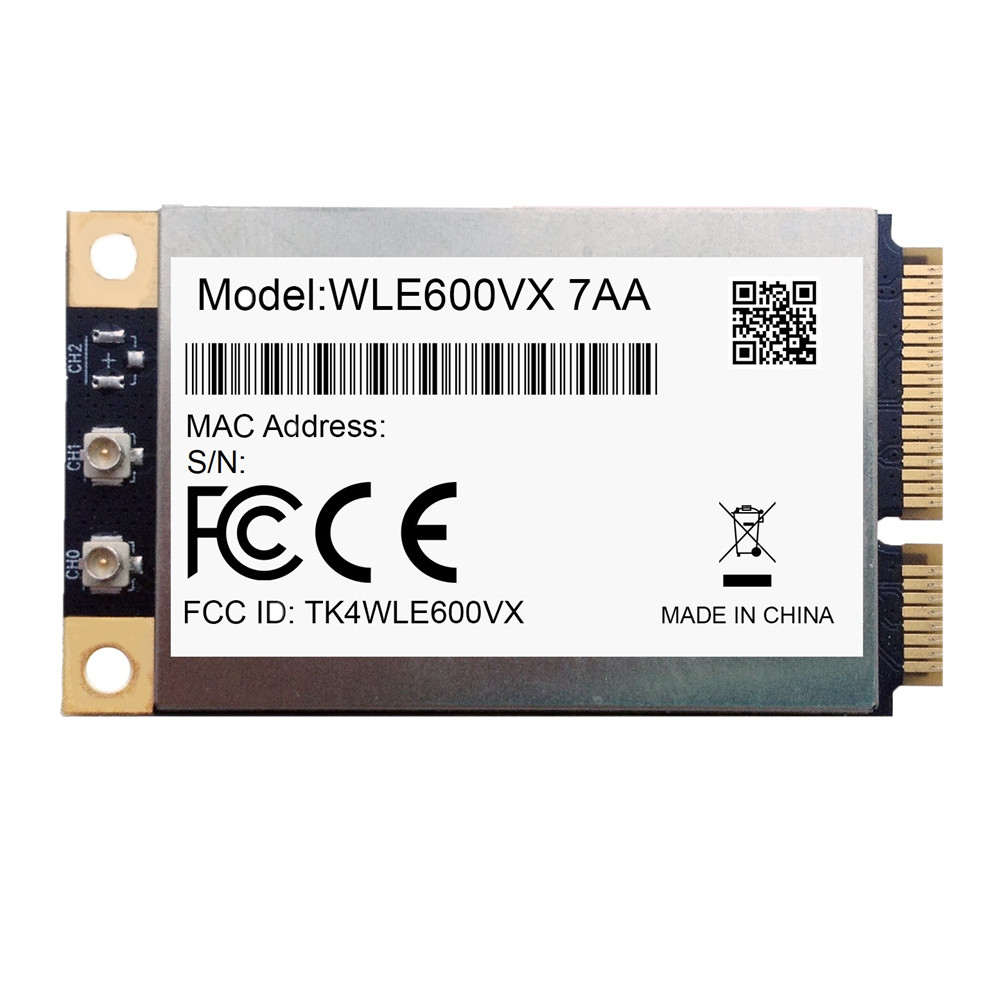 For Brand new MINI PCI-E Compex WLE600VX wireless Network card Atheros QCA9882 2*2 802.11AC 867Mbps 2.4G/5G module for brand new mini pci e compex wle600vx wireless network card atheros qca9882 2 2 802 11ac 867mbps 2 4g 5g module