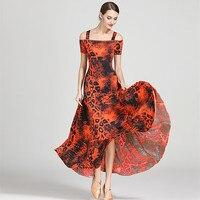 standard ballroom dress standard dance dresses luminous costumes ballroom waltz dress Spanish flamenco dress rumba dance wear