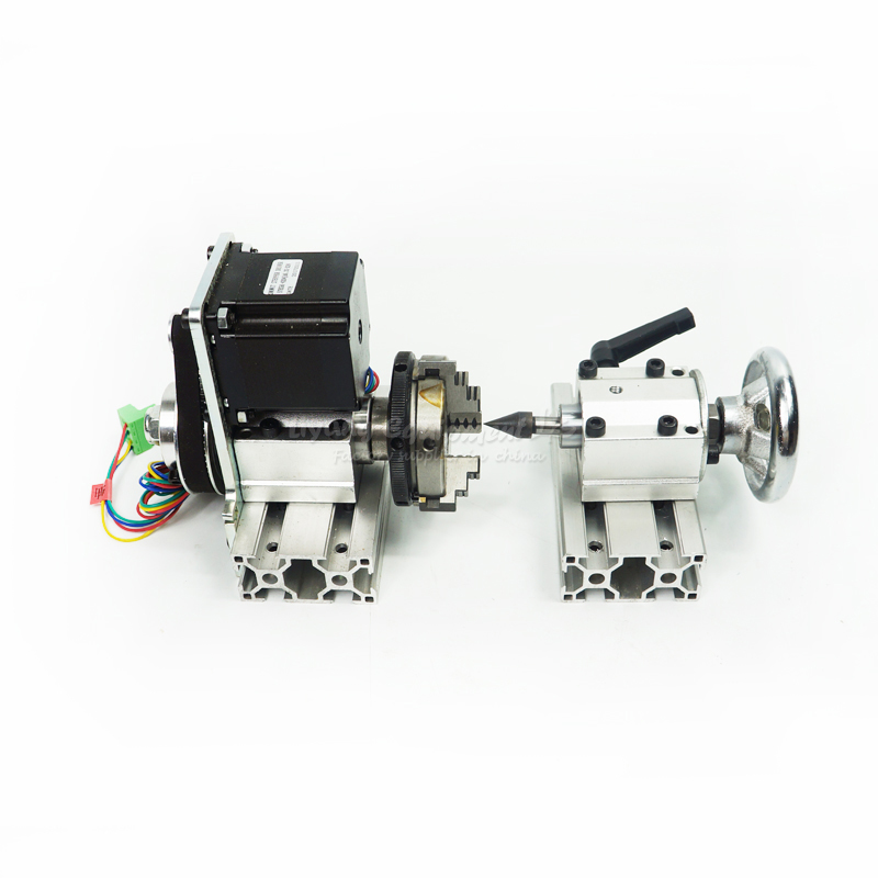 CNC Router Part DIY CNC 4th Axis Rotary Axis with Chuck for Wood Miiling Machine цены