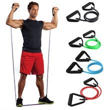 120 см эластичная лента для упражнений, йоги, пилатеса, расширенная тянущаяся веревка, трубы для физической терапии, силовой тренировки мышц
