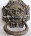 2 stücke Lucky Chinese Tür Feng shui Foo Hund Lion Statue Kupfer Bronze Klopfer|Statuen & Skulpturen|Heim und Garten -