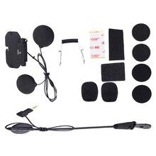 Kit fácil de piloto de áudio e microfone, para vimoto v8, base de capacete, acessórios para microfone