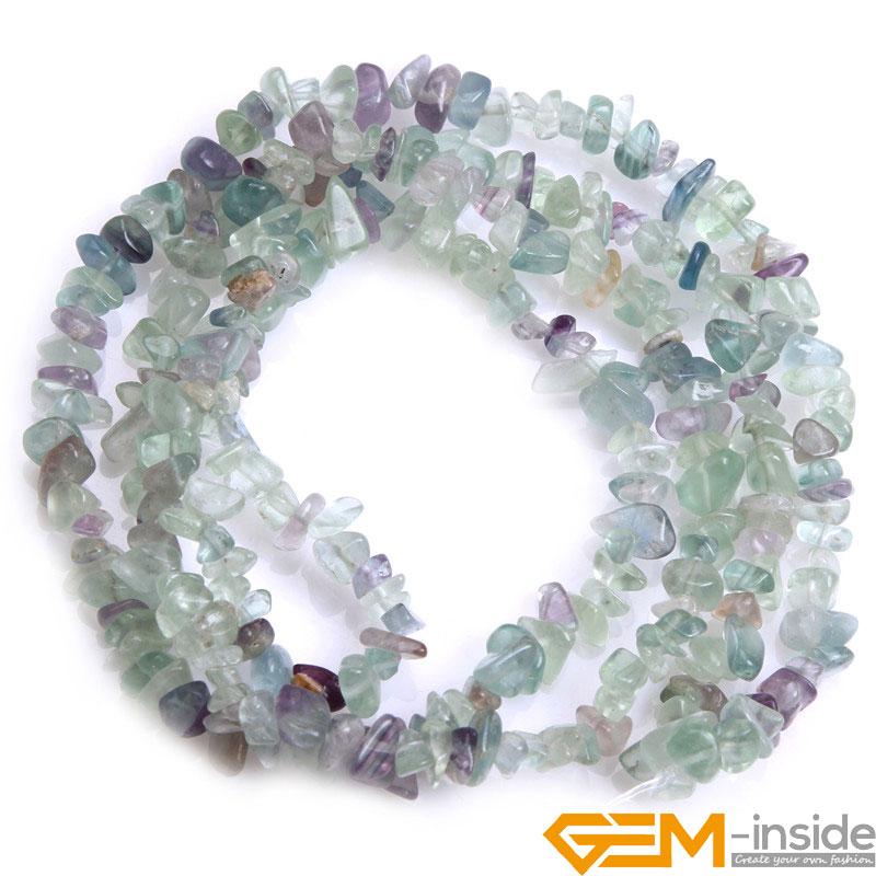 Chips Bentuk Batu Alam (Bahan Perido t Fluorite Malanchite garnet - Perhiasan fashion - Foto 6