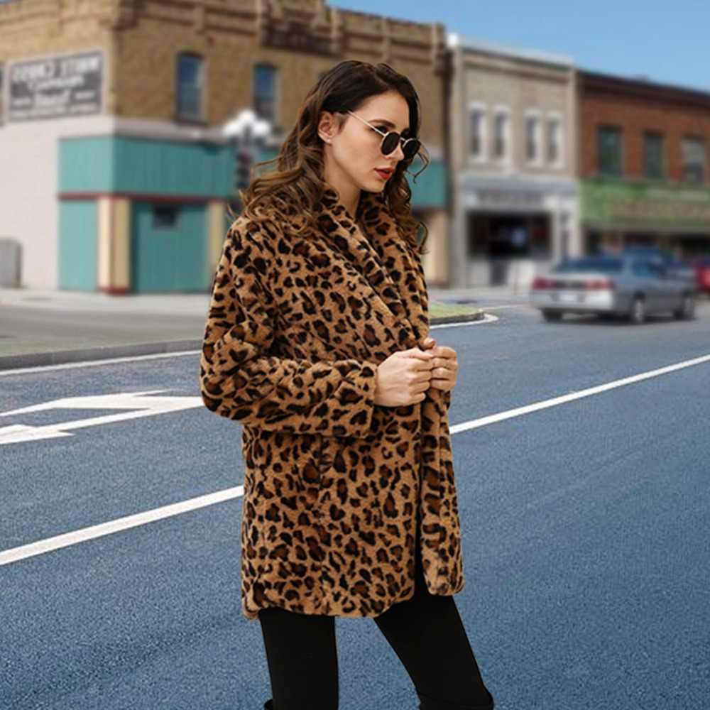 b7eb666420617 Подробнее Обратная связь Вопросы о Leopard пальто 2019 новые Для женщин  высокое качество искусственного меха пальто Роскошные зима теплая плюшевая  куртка ...